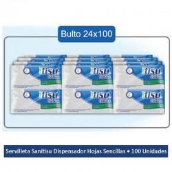 Servilleta Sanitisu tipo Regio 100 hojas BULTO 24 paq.