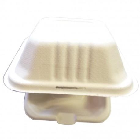 Caja Biodegradable Comida 6x6 . 50 U