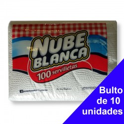 Servilleta Nube Blanca Paq100. BULTO 10 Unidades
