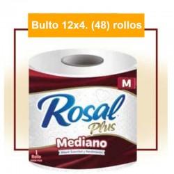 Pap. Higien. Rosal Vino Tinto Doble Hojas X 4 Rollos- BULTO 12 Paq.