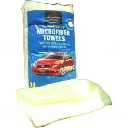 Trapo micro fibra amarillo(no pelusa). bolsa 24 Unidades