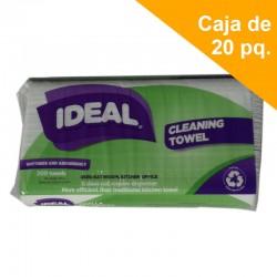 Toalla de mano Interf. Ideal Bio Paq 200 hojas. Caja 20 Unidades