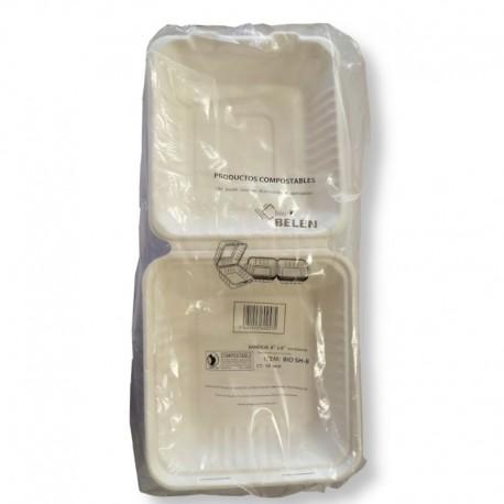 Caja Biodegradable Comida 8x8 50 U